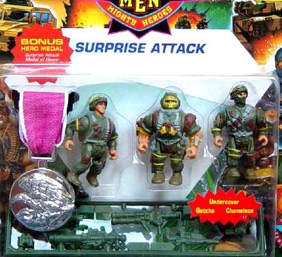 Mini Military Muscle Men Mighty Heroes Surprise Attack -