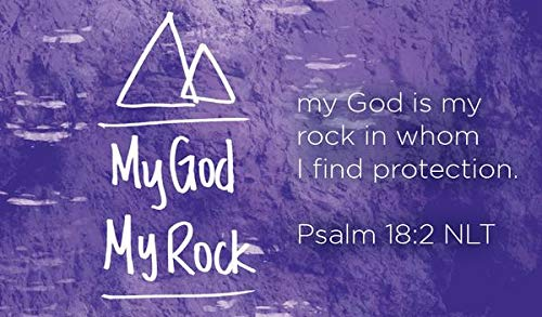 Children's Christian Pass Along Pocket Scripture Cards - God is my Rock | Psalm 18:2 | Pack of -