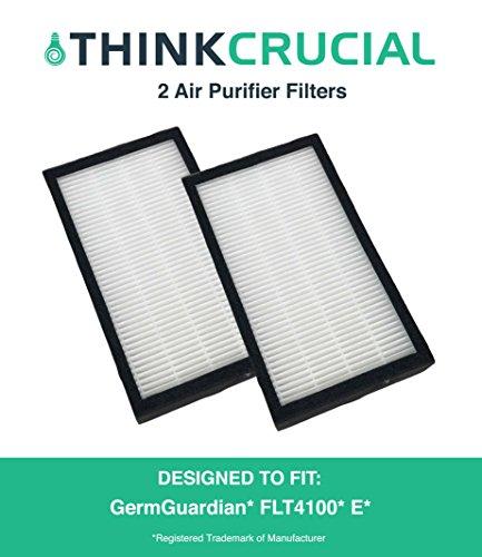 2PK GermGuardian AC4100 Series E Air Purifier Replacement Filters for GermGuardian Air Purifiers, Part # FLT11CB4, by Think Crucial