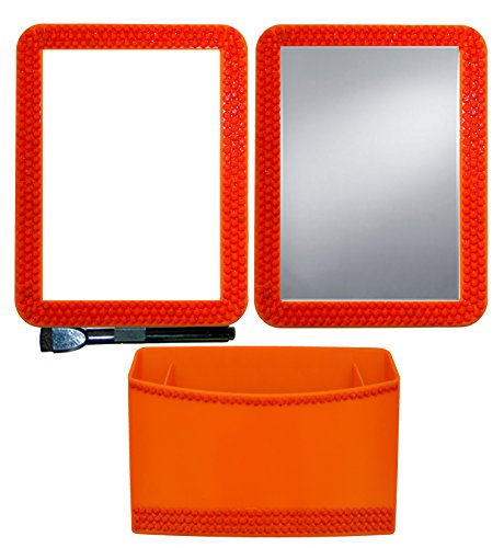 Inkology Color Rush Rhinestone 3 Piece Magnetic Locker Accessory Set, Tangerine (349-6) by Inkology