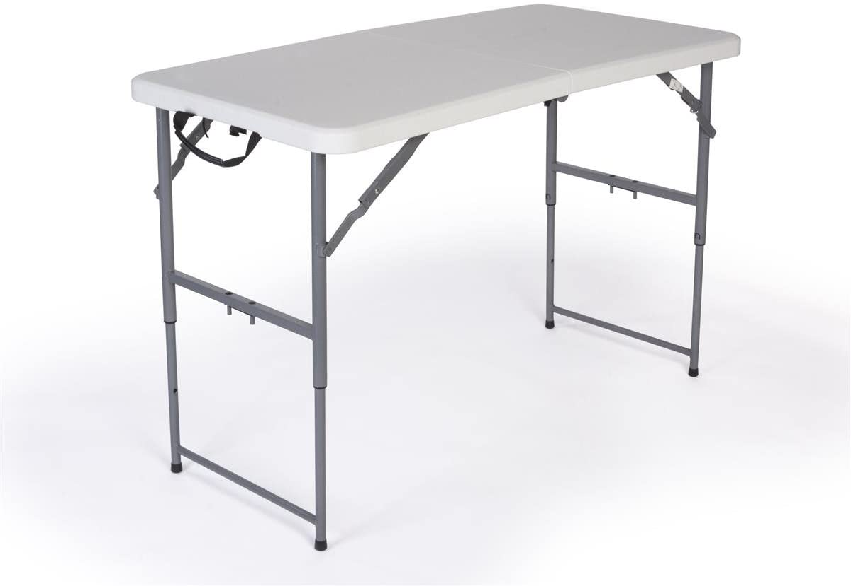 - Amazon.com: Displays2go Adjustable Height Folding Table, 4-Feet