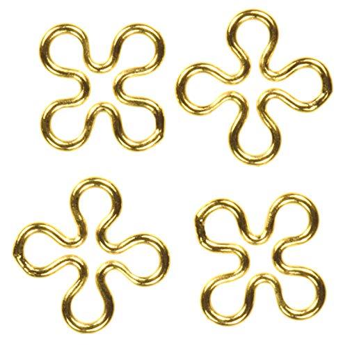 4 14K Gold Filled 7mm Flower Connectors