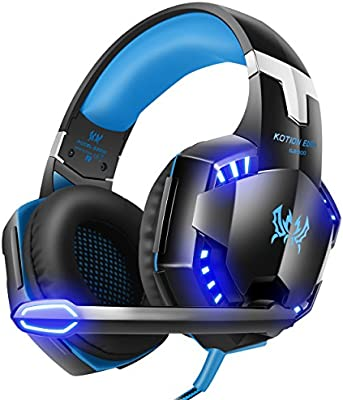 Xbox Gaming Headset Wireless With Microphone and LED Light for Laptop Blue New