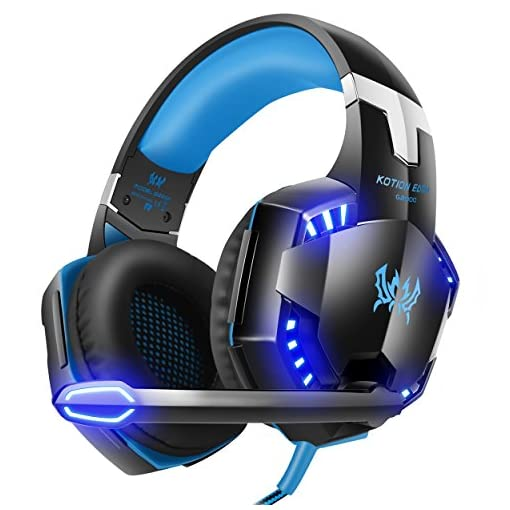 VersionTECH-G2000-Gaming-Headset-Surround-Stereo-Gaming-Headphones-with-Noise-Cancelling-Mic-LED-Lights-Soft-Memory-Earmuffs-Works-with-Xbox-One-PS4-Nintendo-Switch-PC-Mac-Computer-Games
