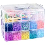 CO-Z 15000 Colorful Rubber Band Bracelet Loom Refill Kit Fun DIY for Kids w/Storage Case