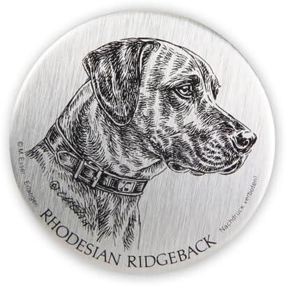 Schecker Selbstklebende Silberfarbene Metallplaketten Rhodesian Ridgeback Wetterfest Versiegelt Für Den Briefkasten Oder Auch Autoaufkleben Hochwertig Und Edel Warnschilder Esser Haustier
