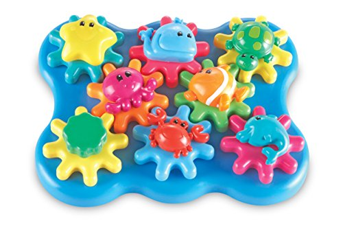 Learning Resources Ocean Wonders Build & Spin, Gears Toy &  Building Set, 17 Pieces, Ages 2+ (Best Baby Food Maker 2019)