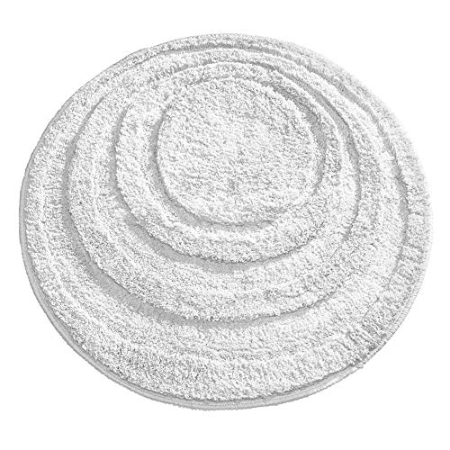 - iDesign Microfiber Round Accent Shower Rug, Bath Mat for Master, Guest, Kids' Bathroom, Entryway, 24