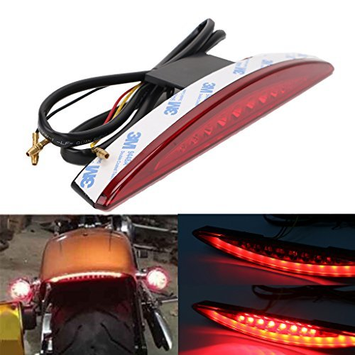 arriè re sous Fender LED Frein Queue lumiè re pour Harley Breakout Fxsb 2013– 2017  objectif (Rouge) BOXWELOVE