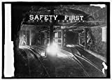16 x 20 Gallery Wrapped Frame Art Canvas Print of Safety first sign in coal mine 1914 National Photo Co 29a