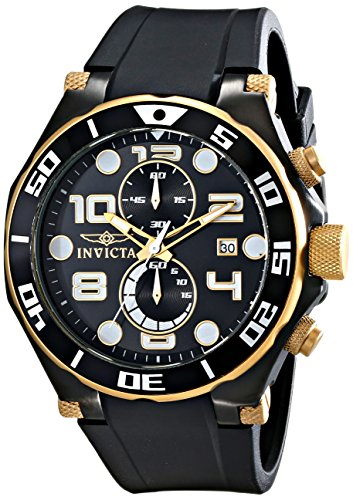 Invicta Men's 15396 Pro Diver Analog Display Quartz Black Watch (Invicta 50 Millimeters)
