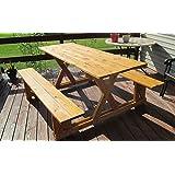 Infinite Cedar EZ-Access Cedar Picnic Table, Wood