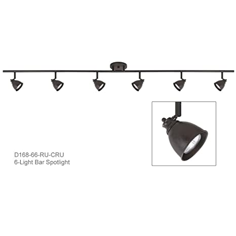 6 light bar track lighting in rust with metal cone shade d168 66 ru 6 light bar track lighting in rust with metal cone shade d168 66 aloadofball Image collections
