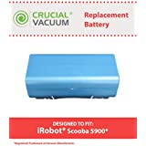 Long Lasting Rechargeable 14.4v, 3500mAh Battery for most iRobot Scooba Series Vacuums; Compare to iRobot Part No. 5900; Designed & Engineered by Think Crucial