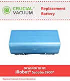 Long Lasting Rechargeable 14.4v, 3500mAh Battery for most iRobot Scooba Series Vacuums; Compare to iRobot Part No. 5900; Designed & Engineered by Crucial Vacuum
