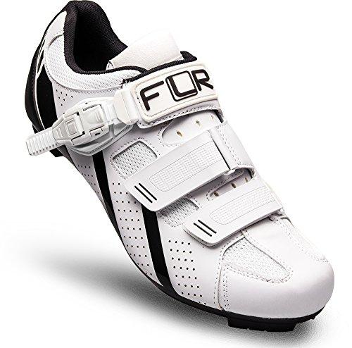 FLR F-15.III Road Shoe in Matt White/Black