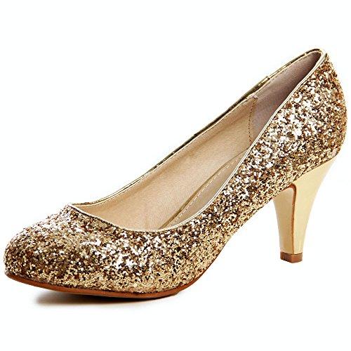 topschuhe24 - Zapatos de vestir de otros para mujer Dorado - dorado