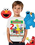 Sesame Street Birthday Shirt, FAMILY Birthday Shirt, Elmo Birthday Boy Shirt, Sesame Street Birthday Party Favor, Boy Birthday Shirt, Cookie Monster, Elmo, Big Bird, Abby, Elmo Shirt, VISIT OUR SHOP!!