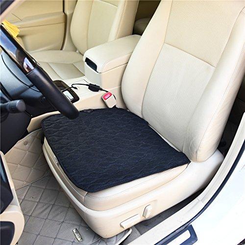 12V Car heating pad,Multifunctional Adjustable Car Cooling Mat Car Air-conditioning Cushion Car Heating Pad-Universal Comfortable Heating Warmer Pad Black