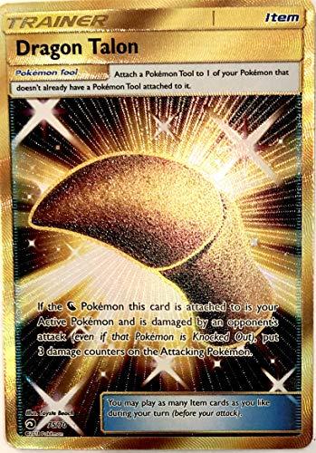 Sun Moon - Dragon Majesty - Full Art Dragon Talon - 75/70 - Secret Rare Shiny Gold Foil Card