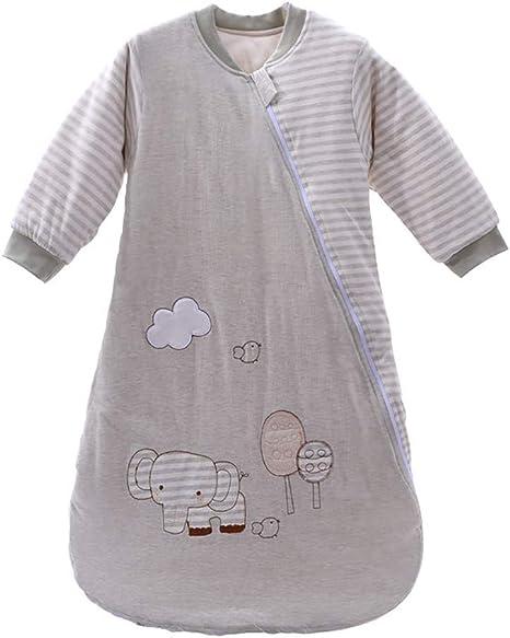 Saco de dormir de algodón con diseño de elefante y manga larga ...