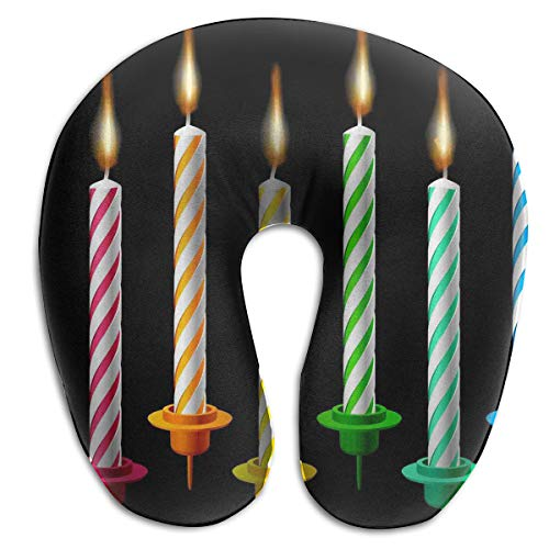 Laurel Neck Pillow Birthday Candle Travel U-Shaped Pillow So