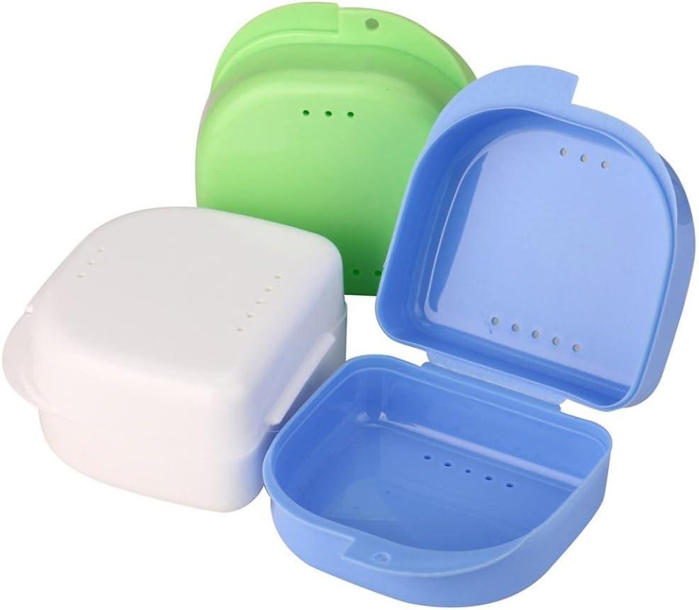 wanshop dentales, Retenedores y otros aparatos dentales dentaduras postizas baño – Contenedor de almacenamiento para riego falsos dientes caja de almacenamiento caso enjuague Basket: Amazon.es: Hogar