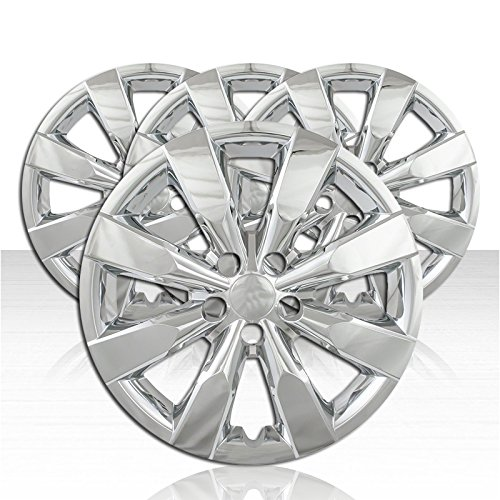 Set of 4 Wheel Covers for 2014-2017 Toyota Corolla 8 Spoke 16 inch - Chrome - Chrome Spoke Hubcaps