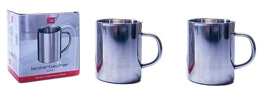 Taza térmica en acero inoxidable (0,4 l), acero inoxidable ...