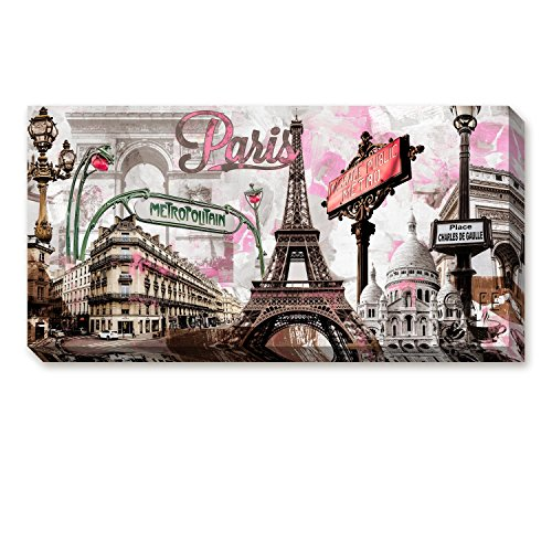 ArtKisser Paris Themed Bedroom Decor Eiffel Tower Home Canvas Wall Art Vintage Paintings Home Bar Decor 24