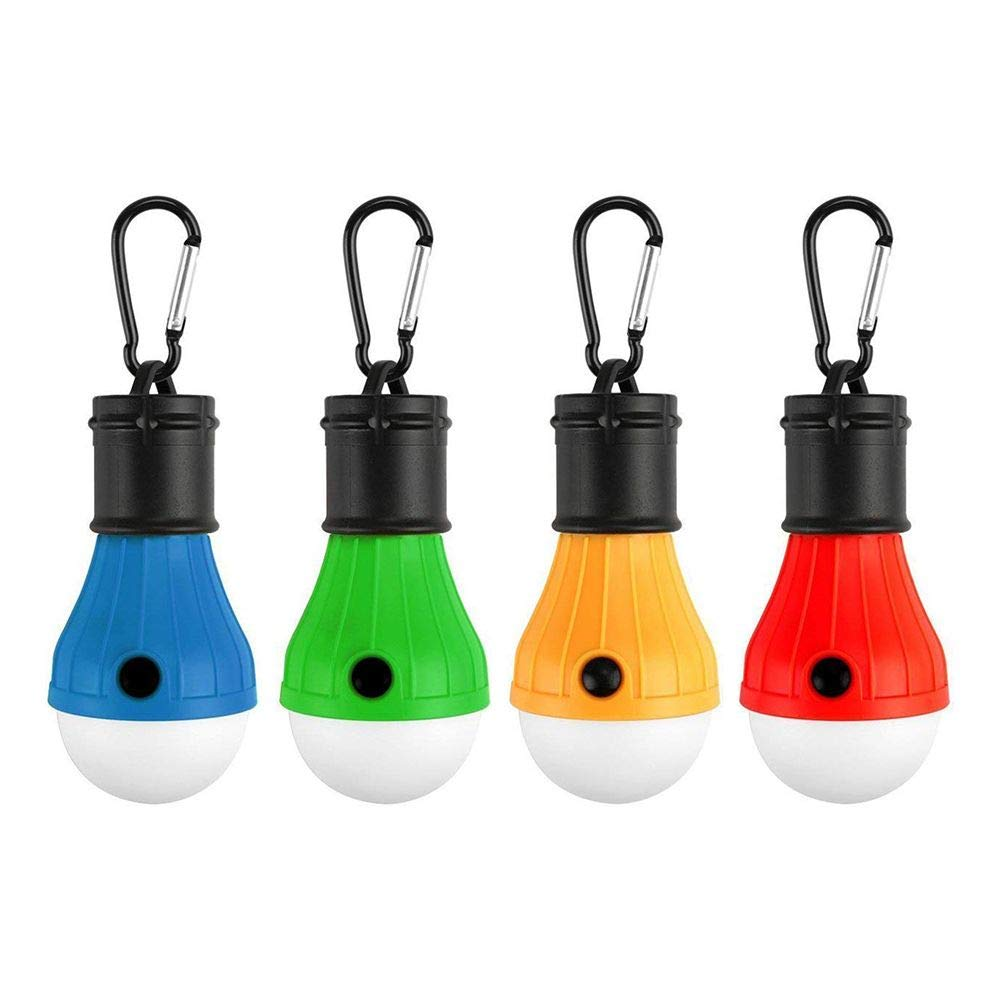 Tong Yue 4 Paquetes de Luces LED para Tienda de campaña, portátil, 3 Modos, Funciona con Pilas, para Mochila, Camping, Senderismo, Pesca, Emergencia, Funciona con Pilas, para Exteriores e Interiores portátil