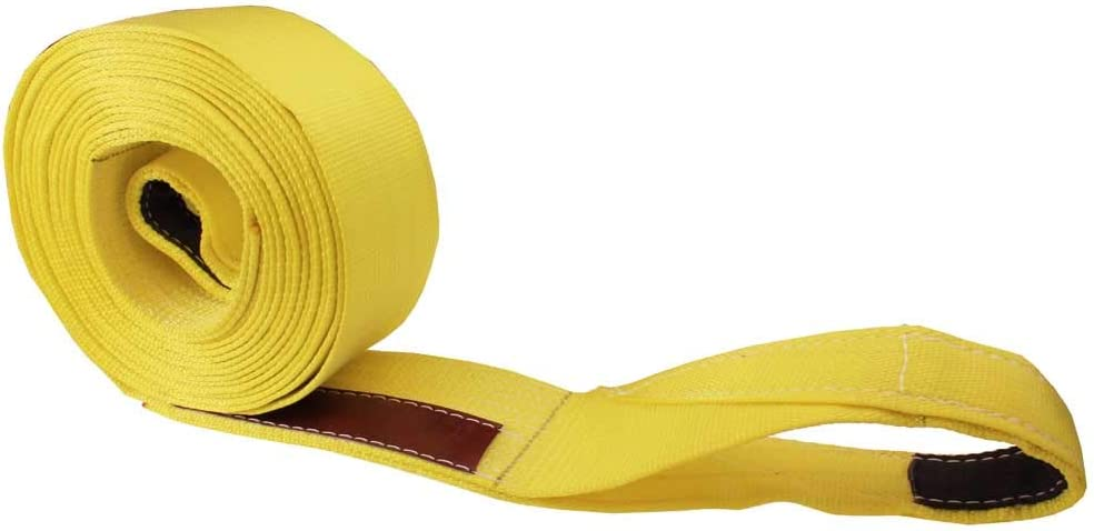 Made in USA 3 x 30 Nylon Recovery Strap//Tow Strap with Cordura Eyes