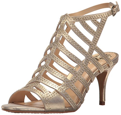 - Vince Camuto Women's PATINKA Heeled Sandal, Gold Nugget, 7 Medium US