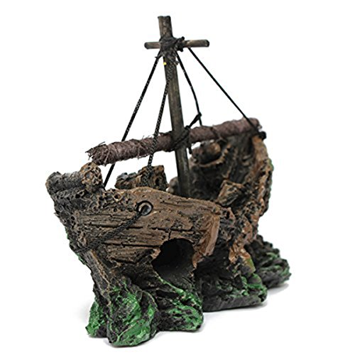 Corner Biz Aquarium - Fish Tank Shipwreck Lost Cruise Shi...