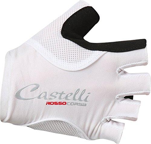 Castelli Rosso Corsa Pave Glove - Women's White/Black, L ()