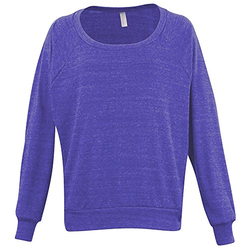 Orchid Tri (American Apparel Womens/Ladies Lightweight Tri-Blend Pullover Sweater/Jumper (M) (Tri-Orchid))