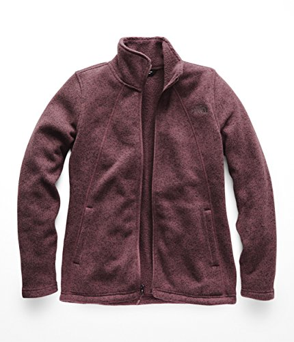 - The North Face Womens Crescent Full Zip - Fig Heather - M