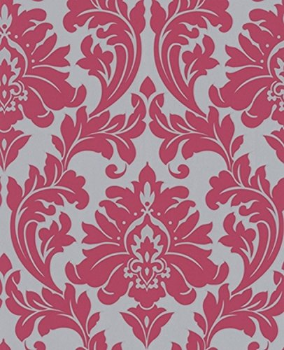 Graham & Brown 30-418 Superfresco Easy Majestic Wallpaper, Hot Pink
