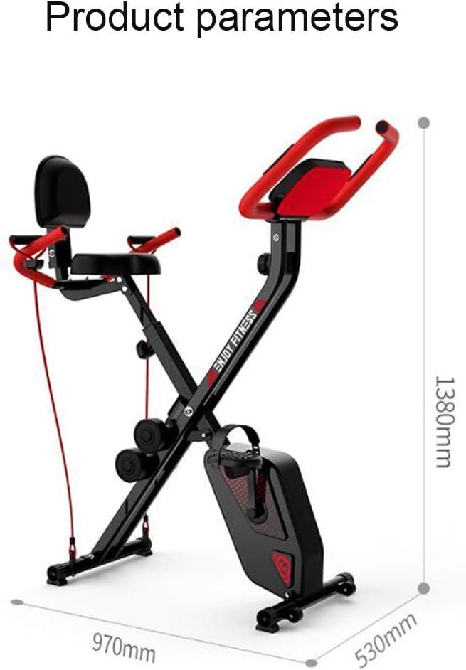 J&Y Bicicleta estática de ciclismo de interior, volante de inercia ...