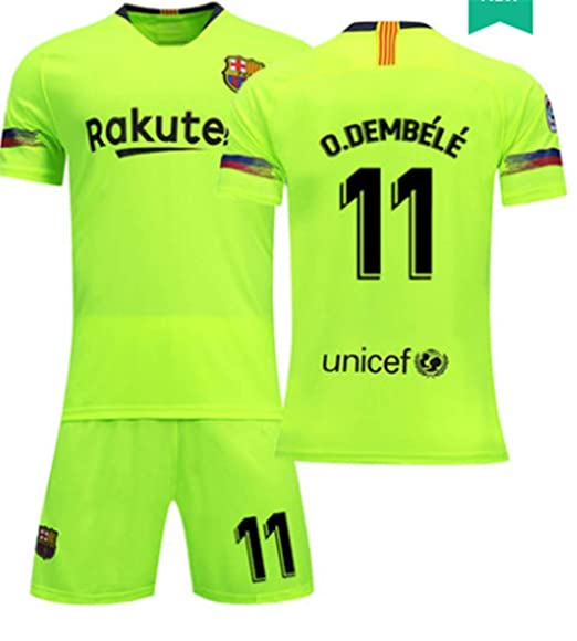 216024b1d LISIMKE Soccer Team 2018 19 Barcelona Away Soccer Ousmane Dembele 11 Mens  Replica Shorts Kid Youth