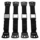 TV Furniture Anti Tip Safety Straps Heavy Duty All Metal Parts, Baby Proofing Dresser Anchoring Kit, 4 Pack