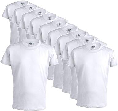 Camisetas 100% Algodón Blancas 10 Unidades para niños, Camisetas Mod Keya 150gr/m2- Manga Corta, : Amazon.es: Ropa y accesorios