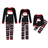 Happyjiu Christmas Holiday Family Matching Sleepwear Pajamas Set Couples Pajamas (M, Mom)
