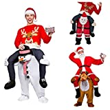 GUAITAI Christmas Costume Santa Claus Snow Man Reindeer Carry Costume Ride On Mascot Costume Party Fancy Dress (DHL ALSO AVAILABLE)