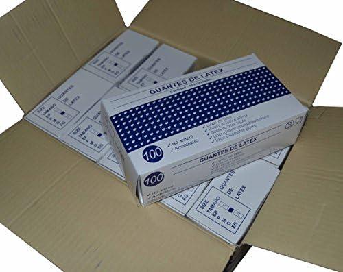 Guantes de latex T/P, Caja de 1000 guantes en 10 pack (GRANDE): Amazon.es: Salud y cuidado personal