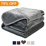 #5: MAEVIS Fleece Luxury Blanket Super Soft Cozy Lightweight Plush Fur Warm All Season Throw for Bed and Couch (Queen, Dark Grey)