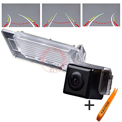 - 170° Viewing Reversing Track Camera Ruler Line with Steering Wheel Moving Rear View Backup Trajectory Camera Parking Assist System, Night Vision CCD for A1/A4 B8 4d 5d/A5/Q5/Roadster/TT RS 2d Coupe