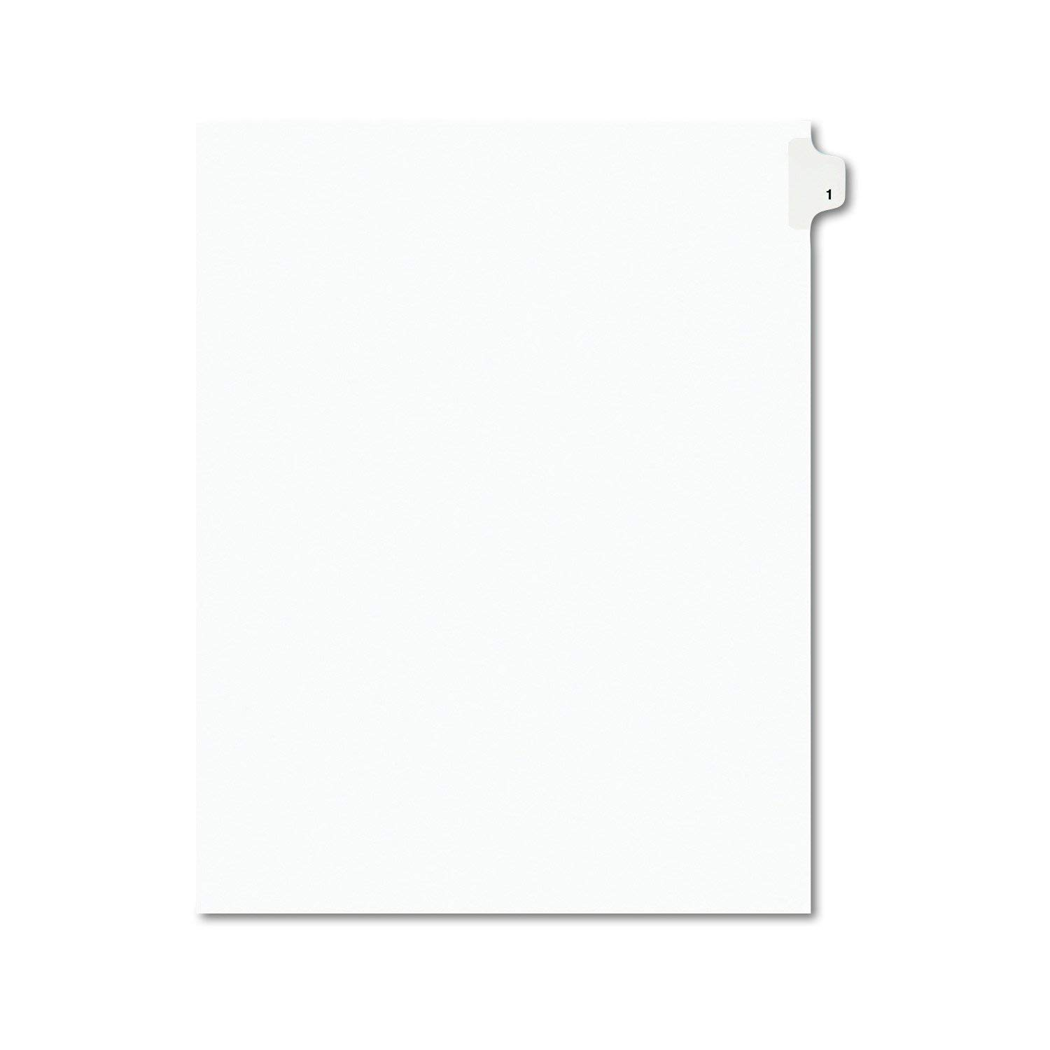 Individual Legal Exhibit Dividers, Avery Style, 1, Side Tab, 8.5 x 11 inches, Pack of 25 (11911), 20 Set, 500 tabs Total by AVERY