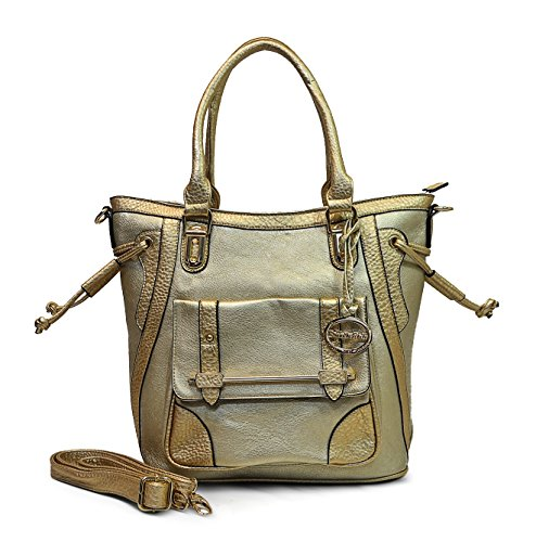 SORRENTINO Ladies' Handbag Large Travel Tote (727_Gold)