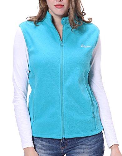 Clothin Women's Full Zip Fleece Vest Sky Blue L ()